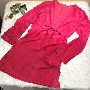 ATHLETA Ombré Cotton and Silk Caftan Swim Coverup